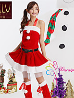 SKLV Women's Polyester Christmas Uniforms Ultra Sexy/Suits Nightwear/Lingerie