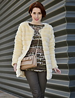 Women's Elegant Faux Fur Winter Jacket Warm Coat