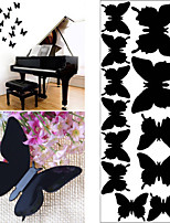 12 Pcs 3D Butterfly Plastic Wall Sticker Wall Decals