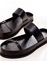 Zapatos de mujer Cuero Sintético Plataforma Gladiador Pantuflas Casual Negro