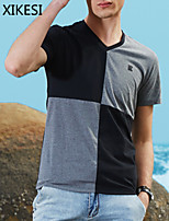 Men's Casual Short Sleeve Regular T-Shirt (Cotton Blend) XKS7F23