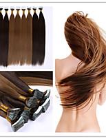3Pcs/Lot 2.5G/S 100G/PC PU Skin Weft/Tape In Hair Extension 100% Virgin Human Hair Keratin Fusion Capsule Hair In Stock