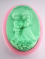 la sposa e lo sposo la muffa del sapone del silicone