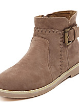 Women's Shoes Chunky Heel Comfort Boots Outdoor Brown/Khaki