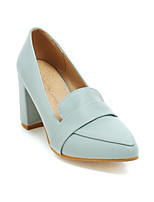 Women's Shoes Faux Chunky Heel Pointed Toe/Closed Toe Pumps/Heels