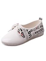Zapatos de mujer - Tacón Plano - Comfort / Puntiagudos / Punta Cerrada - Zapatos de Deporte - Exterior / Casual - Piel Sintética -Negro /