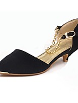 Women's Shoes Low Heel Heels/Pointed Toe Pumps/Heels Casual Black/Red