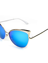 Women's 100% UV400 Cat Eye Fashion Mirrored Sunglasses