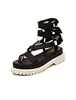 Women's Shoes   Kitten Heel Mary Creepers Sandals Outdoor/Casual Black/White