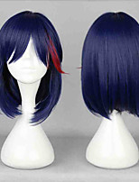Women BOBO Mixed Colors Fashion Short Wig Red and Purple Blended Gradient Anime Cosplay Wigs Black Women