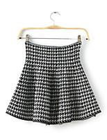 Women's Casual/Work Micro-elastic Medium Mini Skirts
