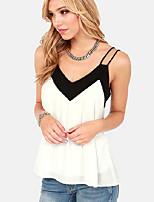 Women's Sexy/Casual Micro Elastic Sleeveless Short Vest (Chiffon)