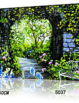 DIY Digital Oil Painting With Solid Wooden Frame Family Fun Painting All By Myself     Romantic Garden 5037