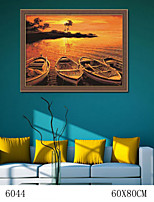 DIY Digital Oil Painting  Large Size Without Frame  Family Fun Painting All By Myself     The Sunset 6044