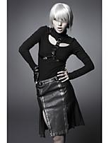PUNK RAVE Q-208 Women's Vintage/Sexy/Casual Micro-elastic Medium Knee-length Skirts (PU)