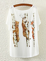 Ronde hals - Polyester Vrouwen - T-shirt - Korte mouw