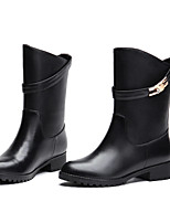Women's Shoes Low Heel Motorcycle Boots/Round Toe Boots Office & Career/Dress/Casual Black