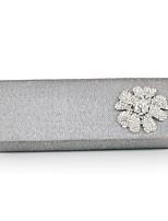 Handbag Satin/Silk Evening Handbags/Clutches/Mini-Bags/Wallets & Accessories With Flower