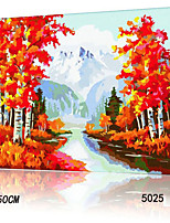 DIY Digital Oil Painting With Solid Wooden Frame Family Fun Painting All By Myself     Golden Fall 5025