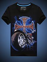 Katoen - Print - Heren - T-shirt - Informeel/Grote maten - Korte mouw