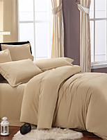 H&C 100% Cotton 600TC Duvet Cover Set 4-Piece Solid Color NWY7
