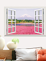 3D Wall Stickers Wall Decals Style Pink Flowers PVC Wall Stickers