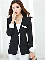 Women's Casual Work Medium Long Sleeve Regular Blazer (Others)