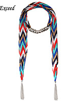 D Exceed  New Chiffon Necklace Scarf Arrow Long Scarf with Tassels for Women