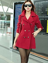 Women's Blue/Red Coat , Casual Long Sleeve Others