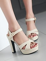 Women's Shoes  Stiletto Heel Platform Sandals Office & Career/Dress Black/Pink/Beige