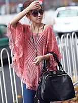 Women's Casual Stretchy Thin Short Sleeve Pullover