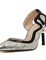 Women's Shoes Stiletto Heel Heels Pumps/Heels Wedding/Party & Evening Black/Silver
