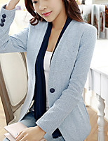 Women's Casual Work Thin Sleeve Regular Blazer (Cotton)