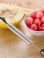 2 in1 de frutas ferramentas de cozinha colher bola faca escavação aço inoxidável vegetal scooper