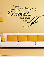 Wall Stickers Wall Decals Style Friends English Words & Quotes PVC Wall Stickers