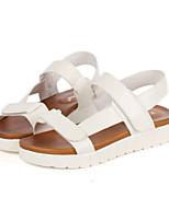 Women's Shoes Flat Heel Open Toe Sandals Casual Black/White