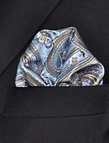 Men's Business Pattern Laight Blue  Hanky
