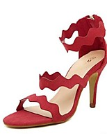 Women's Shoes Stiletto Heel Open Toe Sandals Casual Black/Red