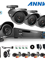 ANNKE® 8CH AHD-L 960H DVR eCloud HDMI 1080P/VGA/BNC Output 4pcs 900TVL CMOS 42LEDS Day/Night IR-cut Cameras IP66