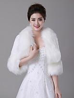 Wedding  Wraps / Fur Wraps / Fur Coats Coats/Jackets 3/4-Length Sleeve Faux Fur Ivory