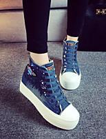 Zapatos de mujer - Plataforma - Plataforma / Creepers / Punta Redonda - Sneakers a la Moda - Exterior / Casual - Vaquero -Negro / Azul /