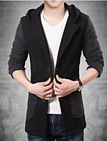 Men's Casual Long Sleeve Hoodie Coat (Nylon)