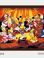 DIY Digital Oil Painting With Solid Wooden Frame Family Fun Painting All By Myself  Mickey Band   4033