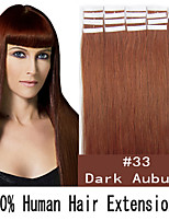 20 inch Remy 50g/set Skin Tape Hair Malaysian Human Hair Extensions 19 Colors for Women Beauty