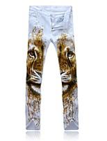 Men's Casual Print Pant (Denim)