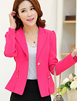 Women's Autumn New Lapel Long Sleeve Solid Slim  Blazer