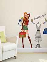 Wall Stickers Wall Decals Style Fashion Girl PVC Wall Stickers