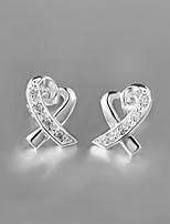 2015 Italy Style Silver Plated Stud Earrings for Lady