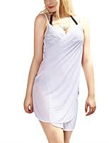 Women's Sexy Cover-ups Beachwear Swimwear Swimsuits Bathing Suits Slip Dress Spaghetti Strap Deep V-neck Backless Sarong