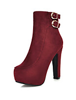 Women's Shoes  Stiletto Heel Fashion Boots/Round Toe Boots Wedding/Dress Black/Red